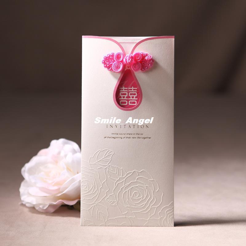 Wholesale - Wedding Invitations 2014 New cheongsam Design Free Printable Cards Handmade Unique Wedding Invites Cards Free shippi(China (Mainland))