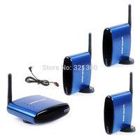 PAT-530 5.8GHz 200M Wireless AV Sender Transmitter + 3 Receivers with IR Remote