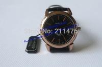 Min.order $10 waterproof Fashion luxury round elegant wristwatch top brand genuine leather quartz watch for wome/men CDWT001005