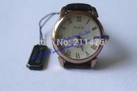 Min.order $10 waterproof luxury business round elegant wristwatch top brand genuine leather quartz watch for wome/men CDWT001006