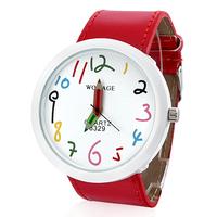 Women's PU Analog Quartz Wrist Watch (Red)