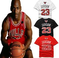 2014 new homme brand short sleeve t shirt fake JORDAN Supper Star Chicago JORDAN 23 Basketball men desigual tee shirt size xxl