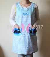 Free shipping 2014 New design Stitch apron princess fashion cartoon gowns Aprons
