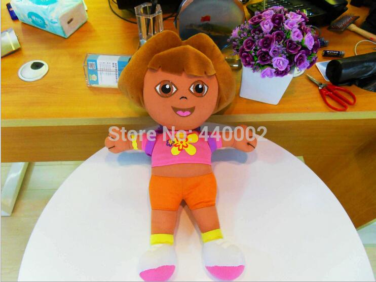 Grátis frete EMS 50 / Lot Dora the Explorer Dora com mochila boneca Toy 35 CM atacado(China (Mainland))