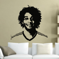 [Black White]Free shipping Drop shipping Wall stickers Wall decal Wall paper  PVC stickers World Cup  football soccer Z-2330