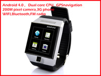 original S5 Smart Watch Phone smartwatch phone Android 4.0 MTK6577 Dual Core 1.5 Inch GPS Wifi 5.0 MP Camera Multi-Language