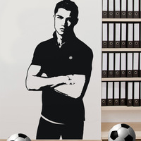 [Black White]Free shipping Drop shipping Wall stickers Wall decal Wall paper  PVC stickers World Cup  football soccer Z-2430