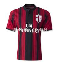 High quality AC Milan 14 15 Jersey KAKA Balotelli Montolivo AC Milan 2015 Home/Away Jersey For ac milan Fans Free shipping(AC)
