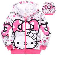 Kids Children Girls Girl Hoodie Sweatshirts Clothes Sportwear Tracksuit  Roupa Clothing Hello Kitty Cartoon Pink Strawberry