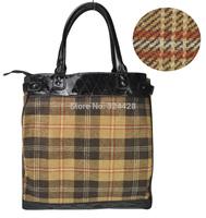 Free shipping! 2014 Women Handbags Classica Plaid Handbag Vintage Tote Bag Fashion Shoulder BagsTB169