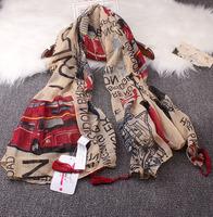 Flag fluid soft scarf silk scarf cape luxury women scarf