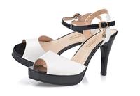 The stiletto heel waterproof stage single white fish mouth shoes nightclub han edition joker female sexy female sandals heels
