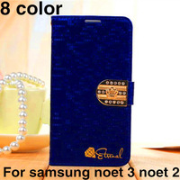 Glittering Luxury Diamond And Leather Cover,For Samsung Galaxy Note3 NoteIII Case,For Note2 NoteII N7100 Case,8 Colors,Wholesale