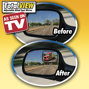 All-direction rotating TOTAL VIEW Adjustable Blind Spot Mirror/Car Panoramic Rear View Mirror Monitor Free Shipping(China (Mainland))