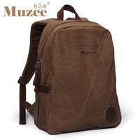 Canvas Backpacks  2014 Muzee Brand Design Double-Shoulder Canvas Laptop Men's Backpacks Travel Bag patchwork Leather