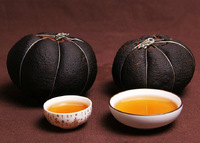 1piece 450g china yunnan green puerh puer grapefruit cooked slimming tea black shu cha losing weight food lower blood fat