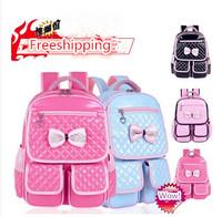 Free shipping 2014 new High quality children school pink girls cartoon bag korea waterproof mochila infantil burdens book bags