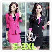 S-3XL size women work wear 2014 new slim plus size women business suit formal office suits work free shipping