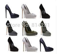 new design Genuine leather brand women high heel shoes girl pumps platform dress shoe