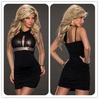 Celebrity Halter Slits Sequin Bandeau Club Dress ( M / L )  Women Summer Party Dresses 2014  Evening Clothes