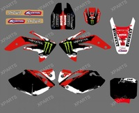 0020 NEW STYLE  MONSTER TEAM  GRAPHICS & BACKGROUNDS DECALS STICKERS Kits  for HONDA CRF150R LIQUID COOLED 2007-2012