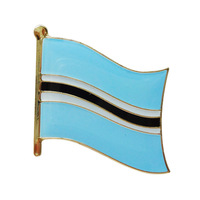 Unique Custom metal Botswana flag lapel pins badges ---Iron plated brass+Paints+epoxy+butterfly button Free shipping(350pcs/lot)