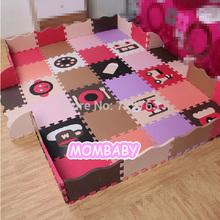 48pcs/set EVA Foam Play Mat Baby Puzzle Floor Mats Fences Carpet Pad Toys For Children Cartoon Environmental 30 * 30 * 1.4cm()