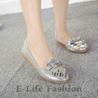 Free shipping 2014 wholesales Single women Flat Beautiful casual confortable single shoes Many Color B98-1