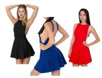 2014 HOT New Sexy High Empire Waist Backless Vest Mini Skater Sun Party Clubwear Evening Dress Wholesale