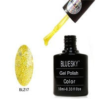 2014 Popular Ladies Bluesky Gel Polish Endearing Girls Soak Off Nail Polish with Sequins 10ML Volume Hot Sale 010-BlZ