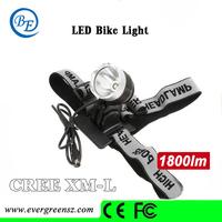 5pieces/lot Waterproof bike light CREE XML T6 LED Bicycle light Light 1800 Lumens 3 Mode ,free shipping 1T6-2