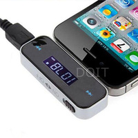 Wireless Car FM Radio Modulator Transmitter MP3 Player ITRIP FOR mobile phone 4 4s music player