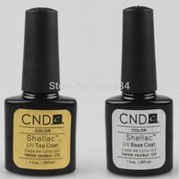 100% High Quality CND Nail Art Kit 2pcs/set TOP COAT & BASE COAT Wholesale For Fingernail Beauty Care 673