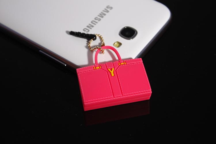designer handbags purse dust plug,Cute Mini dustproof plug mini satchel shoulder bag anti dust earphone plug for iphone(China (Mainland))