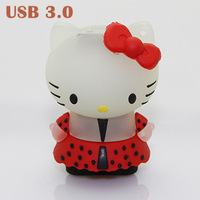 Promotion Real Cartoon Hellokitty Shape 64GB USB3.0 Flash Drive 8GB/16GB/32GB Memory Stick Thumb Drive Pendrive Free Shipping