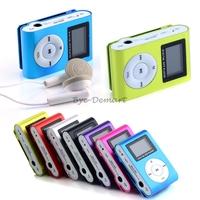 New Portable LCD Screen Clip Metal Mini USB MP3 Music Media Player Micro SD TF Card EFFU