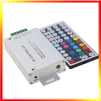 Free shipping 44key IR remoter Aluminum shell DC12V 144W RGB  LED Controller for led strip module 10pcs/lot