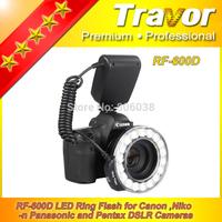 Travor Professional RF-600D LED Macro Ring Flash for Cannon Nikon Panasonic Pentax DSLR  Cameras