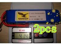 2pcs   Free shipping! GIFI POWER 3S 11.1V 5000MAH 30C Recharger Lipo rc Battery FPV