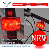 Bike safety light IDS001 Waterproof 3 LED Mountain bike tail lamp Rear warning Red Light Bike Flashlights  2pcs/lot