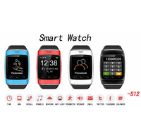 2014 New Bluetooth Smart Watch 1.54''inch Men Wristwatches ZGPAX S12 For Smart Phone Dial Sync SMS/ call On Sale 4 Color