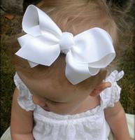 Trail Order 16PCS/LOT Baby Grils Flower Headbands Newborn Baby Hair Bow Baby Bow Headbands Hair Accessories