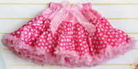 girls polka dot skirt pettiskirt baby tutu lace skirts cute girls ball gown shirt kids tutu skirt princess cd25-02