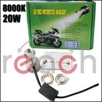 20W 8000K CREE LED Motorcycle Light Headlight Fog White Lamp High Low beam FREE SHIPPING