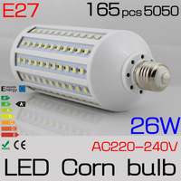 2 PCS 2014 Time-limited Promotion 360 Bar Free Shipping  30w E27 220v /110vac 360degree Light Chip White Color 5050 Corn Bulb
