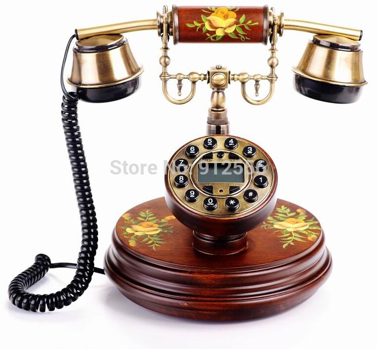 Wood Corded Phone Telefone Retro Antique Telephone Table Telefone Vintage(China (Mainland))