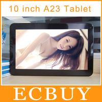 10 inch Allwinner Dual Core Android 4.2 Allwinner A23 WIFI Dual Cameras cheap tablet pc 1GB/8GB Dual Camera
