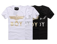 2014 Best Sale Top Brand Eagle London BOY Golden Short-sleeve Basic Classic Street Style T-shirt lovers Plus size FreeShipping