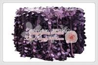 free shipping new desgin purple taffeta coin round table cloth for weddings decoration