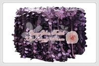 free shipping new desgin purple taffeta coin round table cloth for weddings decoration